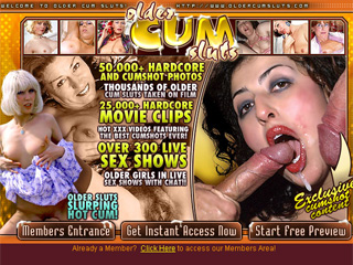 Older Cum Sluts- Exclusive Cumshot Mature Porn
