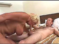 Mom sucks and fucks in doggy style