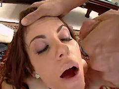 Milf jumps on cock and gets facial