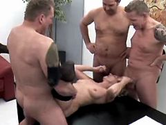 Mature sucks dicks n fucks in orgy