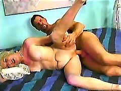 Two depraved matures fuck outdoor and get facials