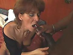 Lusty grandma fucks and swallows cumload
