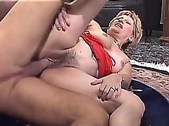 Old mature has hot fuck from behind n gets facial