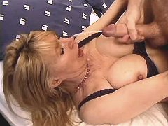 Mom fucks in all ways n gets facial