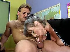 Lustful old teachers fucked in orgy